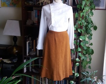 Butterscotch Dreams Vintage Wool Skirt