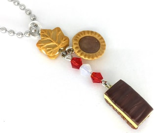 Canadian desserts necklace or clip on charm, maple cookie, butter tart & Nanaimo bar charms Oh Canada Celebrate Canada's 150th birthday