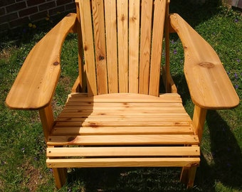 Red Cedar Adirondack Chair, Classic Cedar Adirondack Chair