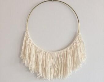 White Cotton Hoop Dreamcatcher