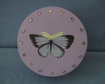 Butterfly Embellished Box with rhinestones