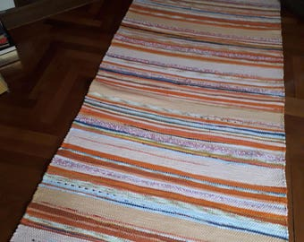 Orange Harmony Handwoven Rag Rug