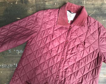 Padded Riding Jacket With Corduroy Collar