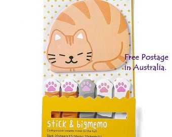 Cat & Mini Paws Post-It Sticky Notes Pack