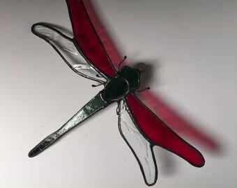 Handmade Stained Glass Dragonfly Suncatcher Under 20 Dollars
