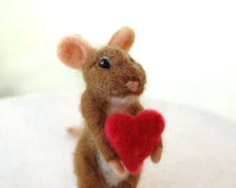 Felted Animals. Needle Felted Mice. Wool Felt Animals. Needle Felted Animal. Toy Mouse Gift. Wool Felt Mouse. Felted Hearts.