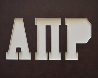 """Greek Letters 8""""x10"""" or 11""""x14"""" Customized Picture Letter Mat Sororities Fraternities"""