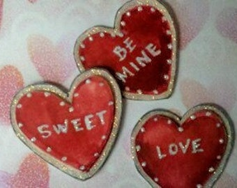 Large Conversation Heart Embellishment Paper Pieces for Valentine's Day