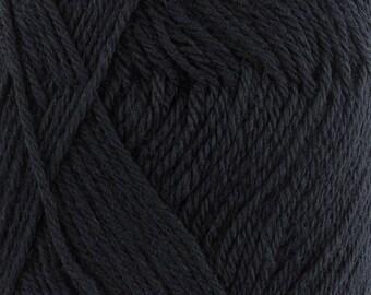 Dancing Feet Black Wool Blend Yarn Green Yellow 2 x 50g Skeins