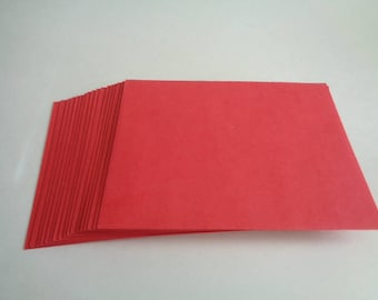 Bright Red  Holiday Envelopes