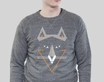 "Sweater Men Slub Heather Grey ""Sam Fux"""