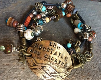 The Mountains are calling - I must Go - Bracelet
