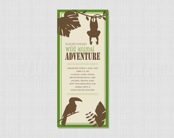 Wild Animal Safari Collection: Printable Invitation
