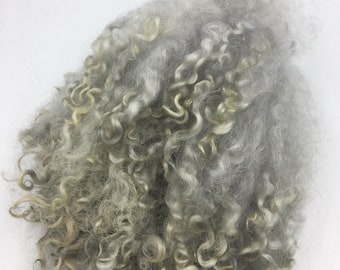 Silver & Grey Mix Wensleydale Locks, 50g