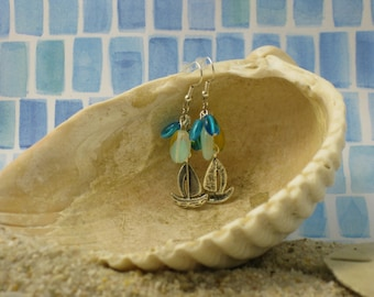 Sailboat Cluster Earrings