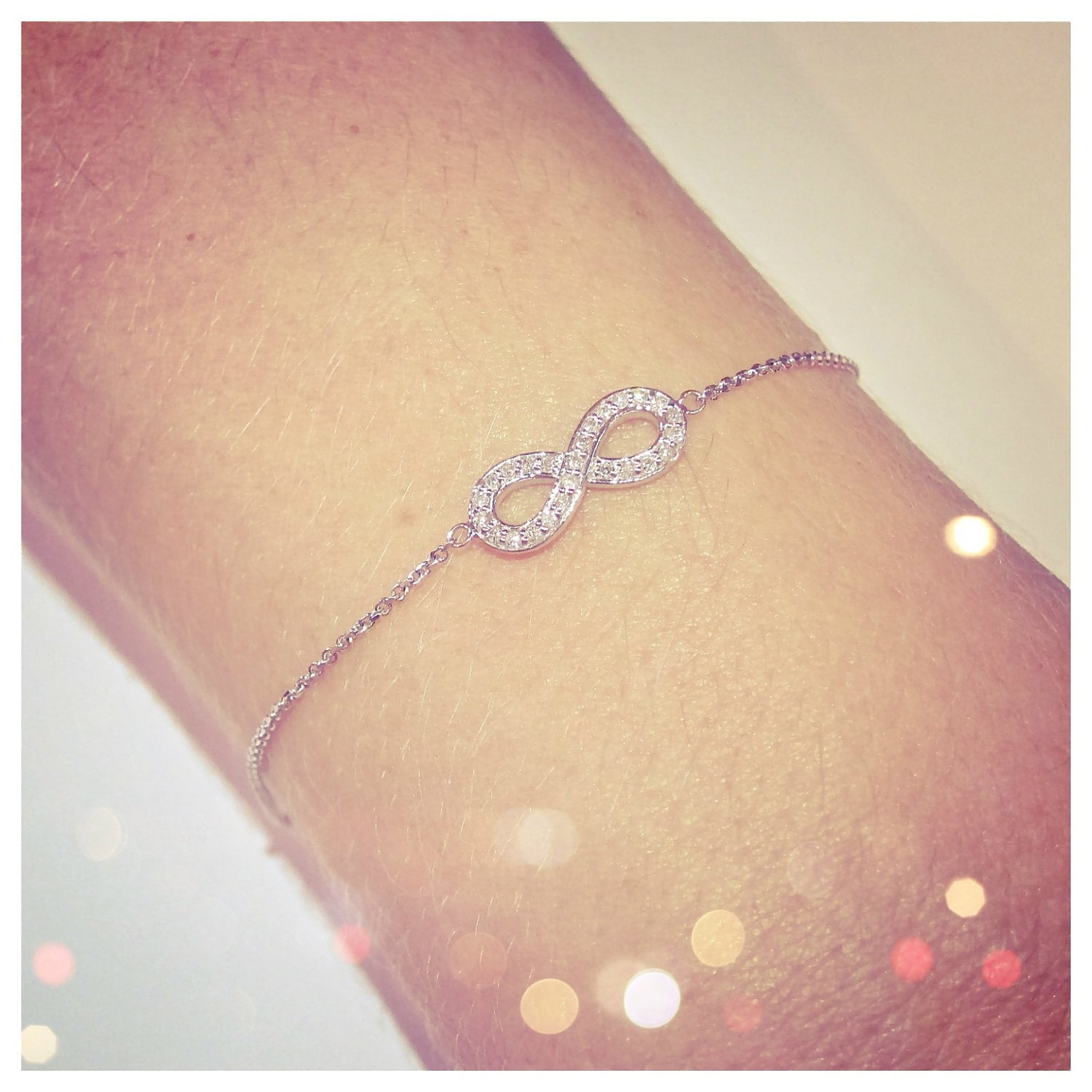 dp sterling amazon bracelet silver cttw com round infinity diamond