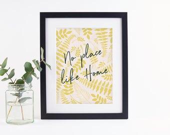 Botanical Home Print Mustard & Blush