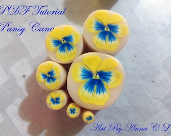 PDF Tutorial: Pansy Flower Cane