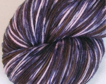 INKY PINK - Handpainted Merino Wool Yarn - Pink Denim Blue Black Brown