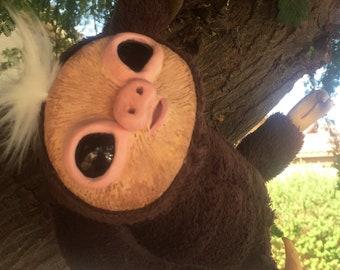 Sloth Art Doll