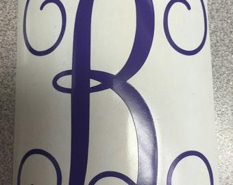 SIngle Initial Vinyl  Monogram