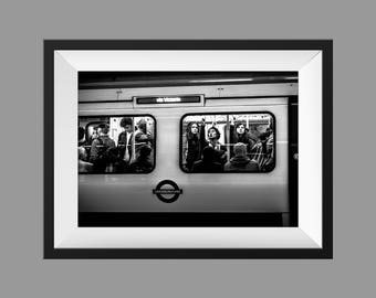 London photography, street photography, London underground prints,  fine art photography, black and white, London prints, prints