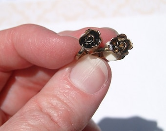 Vintage Rose Clip On Earrings