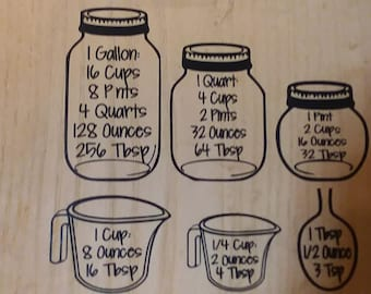 Jar Conversion Chart decal