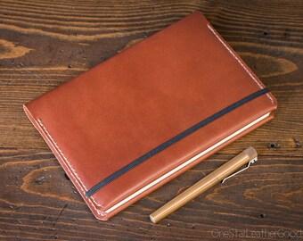 Leuchtturm 1917 Medium (A5) Hardcover Notebook cover - chestnut bridle leather