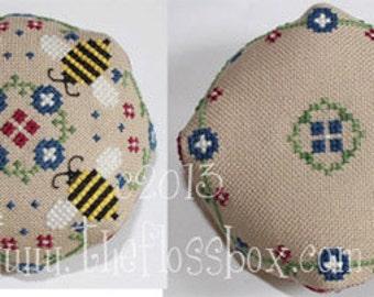 Bee Cross Stitch Biscornu Pattern