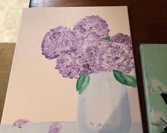 Hydrangea flower painting
