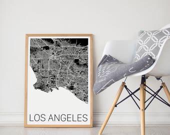 LA Map / LA Print / LA Poster / Los Angeles Map/ Los Angeles Print / Los Angeles Poster/ Los Angeles Art