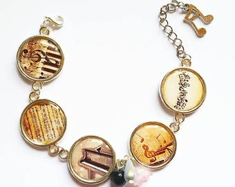 Dome music themed bracelet