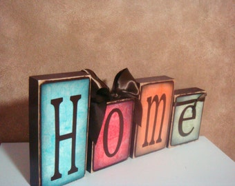 Personalized wood Blocks - Home