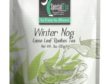 3 oz. Winter Nog Rooibos Tea with Free Tea Infuser