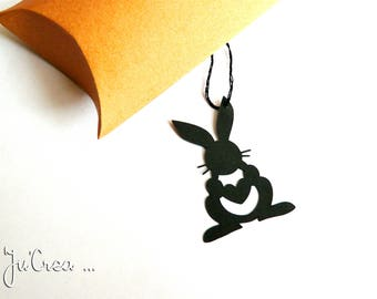 Black x 5 Easter Bunny tag