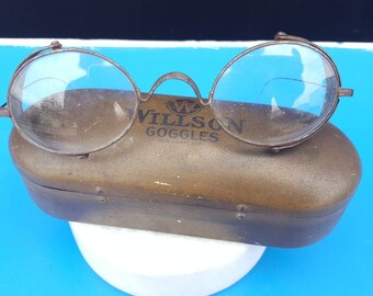 Antique 1920s Willson Safety Goggles Glasses