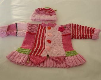 Baby jacket, pink,