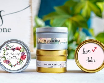 Mother's Day Gift | 2 Candle Giftset, Mother's Day Giftset, From Daughter, Mother's Day, Personalized Mother's Day, Gift for Mom