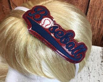 Baseball  - Team -  Headband Slip On  - DIGITAL Embroidery DESIGN