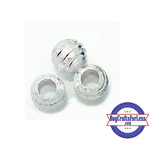 """Silver Beads, """"Beehive"""" shaped, 8 pcs"""