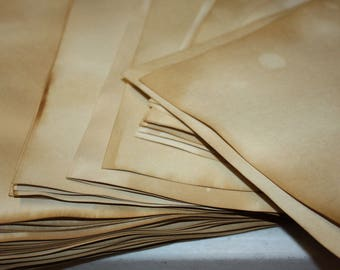 SHEET PAPER 4 x 6 Tea Stained Paper Card Stock