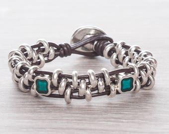 Uno de 50 jewelry style leather bracelet for women bohemian jewelry boho bracelet women beaded bracelet