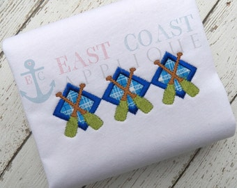 ROWING ARGYLE machine embroidery design