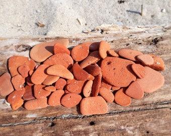 Set of 50 terracotta pottery pieces- beach brick pottery pieces- eco friendly decoration- natural art supplies