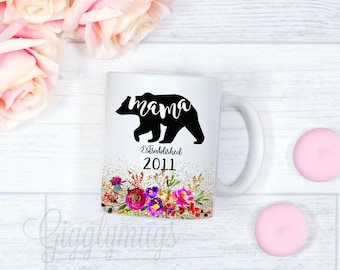 First time Mama Bear Coffee Mugs/New mom mug/gift/Mama Bear Mother's day gift/Birthday mom