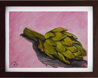 SALE ** Artichoke - Original Acrylic Painting