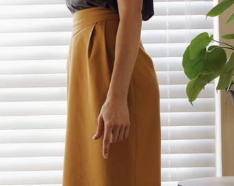 Vintage Copper High Waisted Pleated Skirt by Rafael Size 4