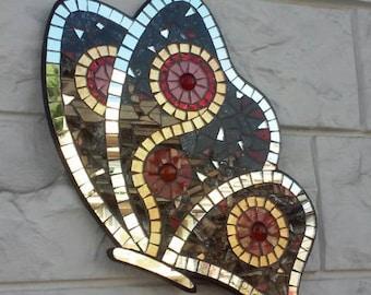 Red Butterfly mosaic papillon Venice Mariposa schmetterling
