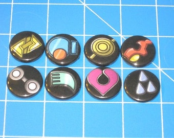 Set of 8 Pokemon Gym Badges - Hoenn League
